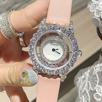 2019 Top Luxury Brand Diamond Women Watches Women Roll Drill Crystal Rhinestone Quartz Wristwatch Bracelet  Ladies Watch Clock yaqin fashion elegant women s rhinestone quartz watch lady casual luxury dress bracelet watches diamond crystal clock