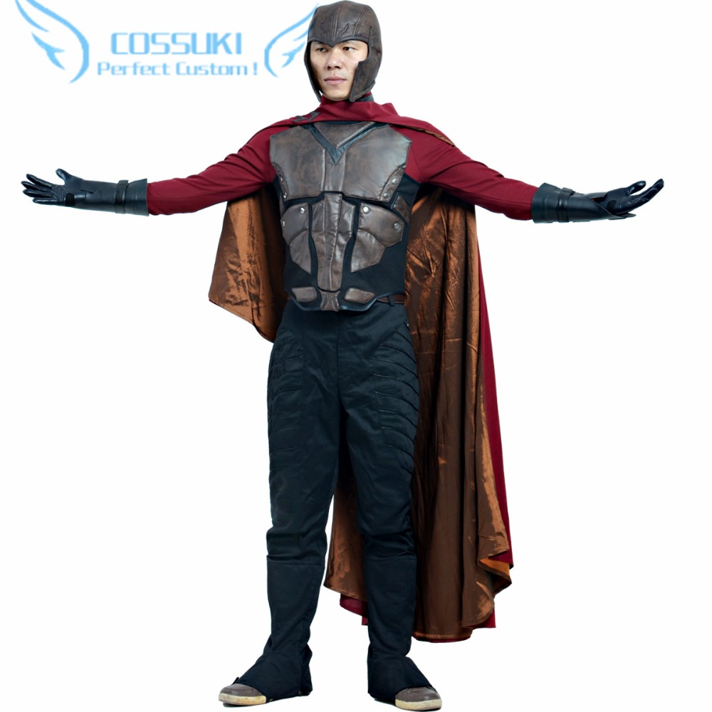 Discount Newest High Quality X Men Magneto Uniform Cosplay Costume