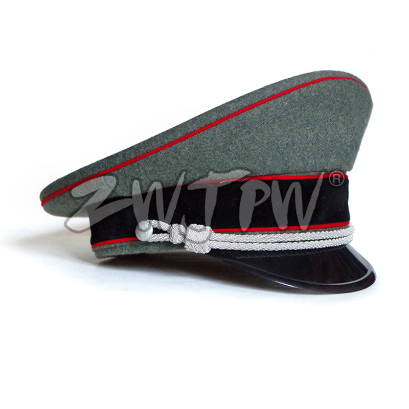 WW2 Army Caps Collectibles Greyish-green Officer Large Brimmed Hats Red Rim Woolen Cloth DE/401138 1000pcs dupont jumper wire cable housing female pin contor terminal 2 54mm new