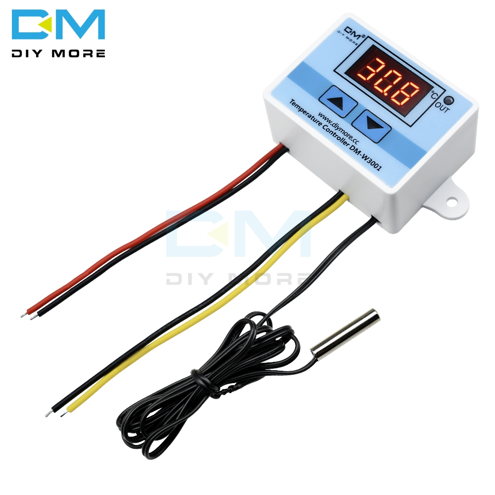 AC 220V 10A Digital LED Temperature Control Controller <font><b>XH</b></font>-<font><b>W3001</b></font> For Arduino Cooling Heating Switch Thermostat + NTC Sensor <font><b>W3001</b></font> image
