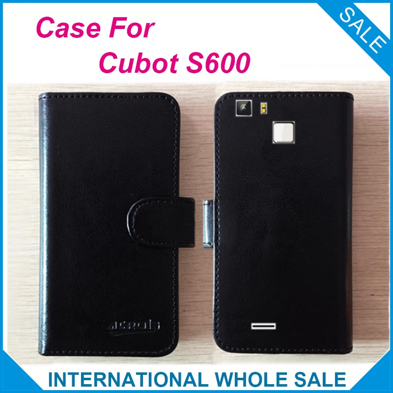 6 Colors Hot! 2016 <font><b>Cubot</b></font> <font><b>S600</b></font> Case, Factory Price High Quality Leather Exclusive Flip Cover for <font><b>Cubot</b></font> <font><b>S600</b></font> Tracking Number image