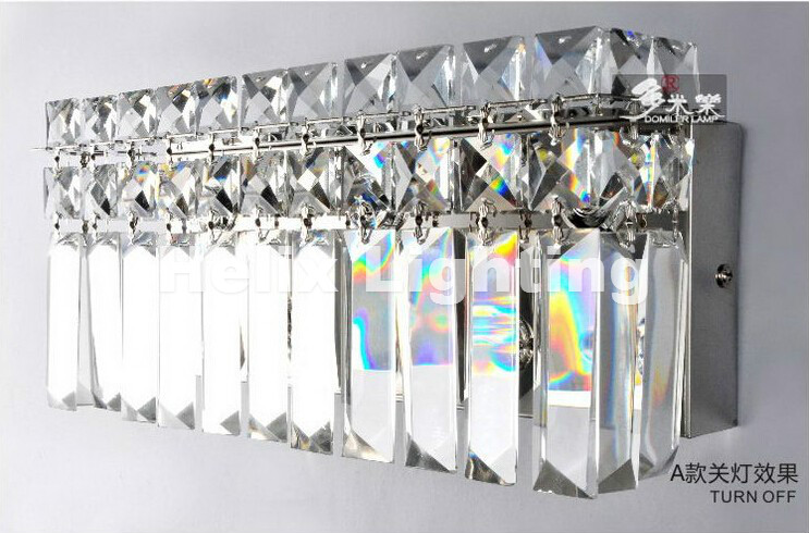 Newly Modern Crystal Wall Lamp Wall Sconce Bedside Living Room Wall Light With K9 Clear Crystal Guaranteed 100%+Free shipping! adjustable quick release plastic tactical puttee thigh leg pistol holster pouch for usp45 black page 6