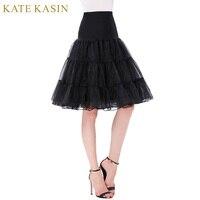 Kate Kasin Fluffy Underskirt Ball Gown Tutu Skirt For Swing Rockabilly Wedding Petticoat High Waist Short