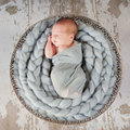2017 New Pure hand-Woven Baby Blanket Plaid Braid Photography Props Fille Newborn Baby Plaid Braid Photography Props