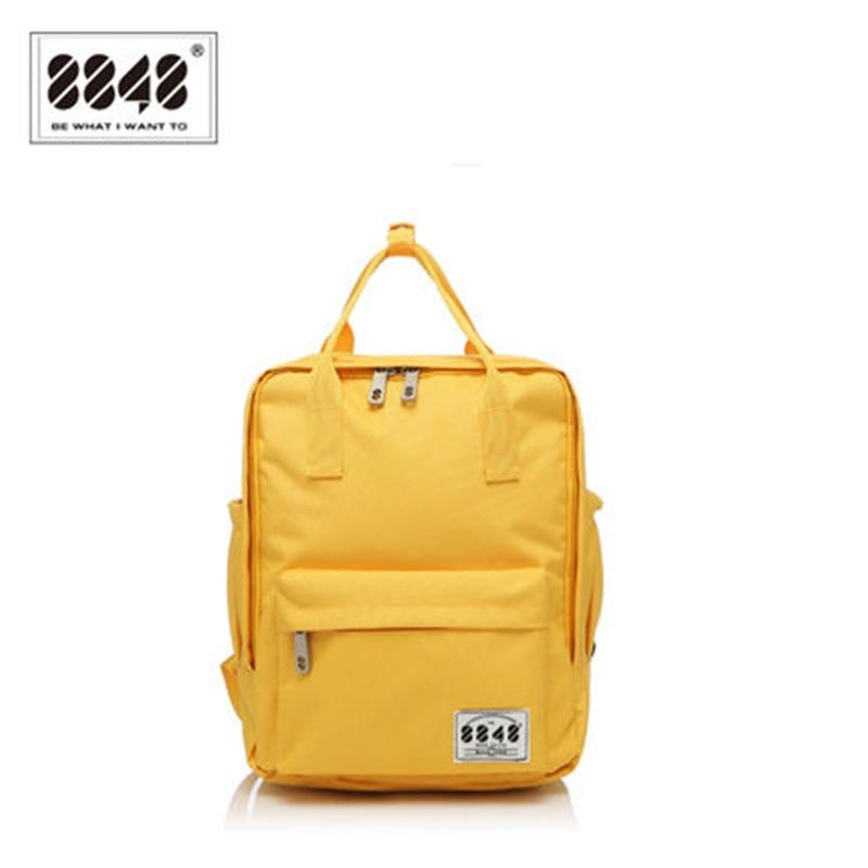 ФОТО 8848 Brand 100% Polyester Yellow School Bag Backpacks For Teenage Girls Small Knapsack Mochila Escolar Lona Infantil S15008-2