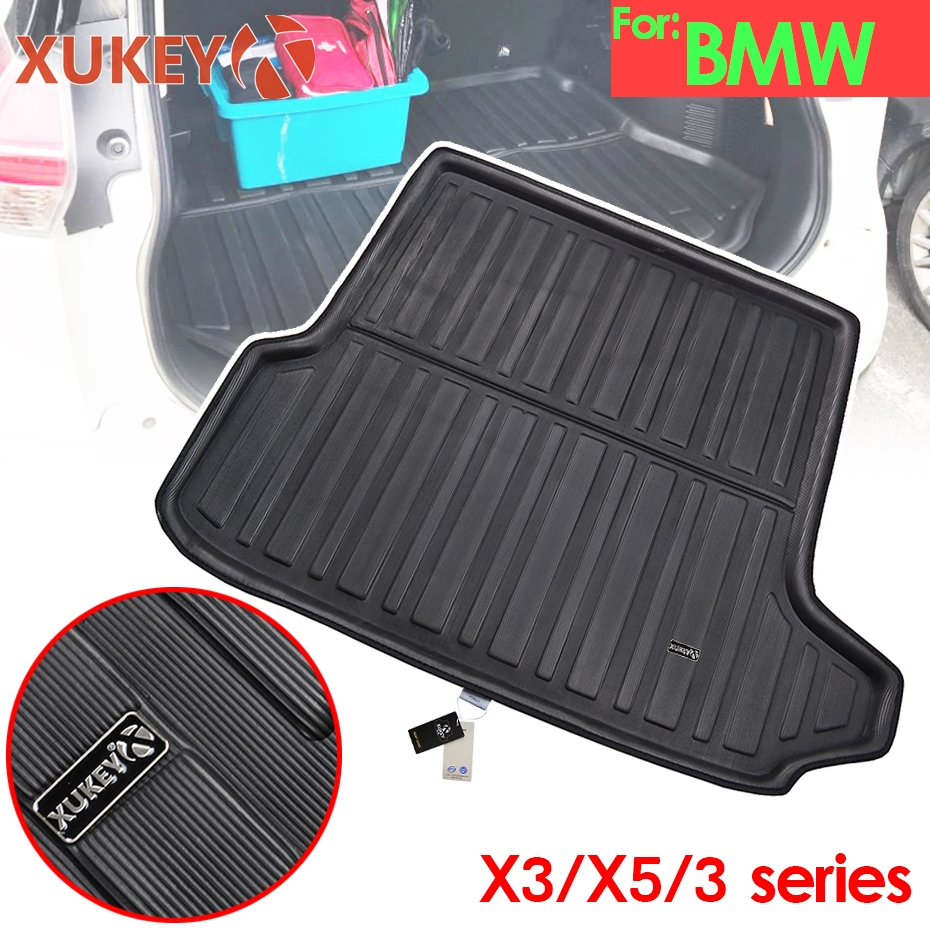 XUKEY Cargo Boot Liner Tray For BMW 3 Series E90 Sedan E92 Coupe X3 E83 F25 X5 E70 F15 Tailored Rear Trunk Mat Protector Mats(China)