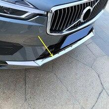 Автомобильный Стайлинг 3 шт. хромированная нержавеющая сталь Передняя Нижняя Накладка бампера декоративная накладка для VOLVO XC60(не подходит для спортивной модели