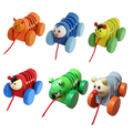Бесплатная доставка Деревянный небольшой деревянный животных caterpillar лучшие деревянные игрушки