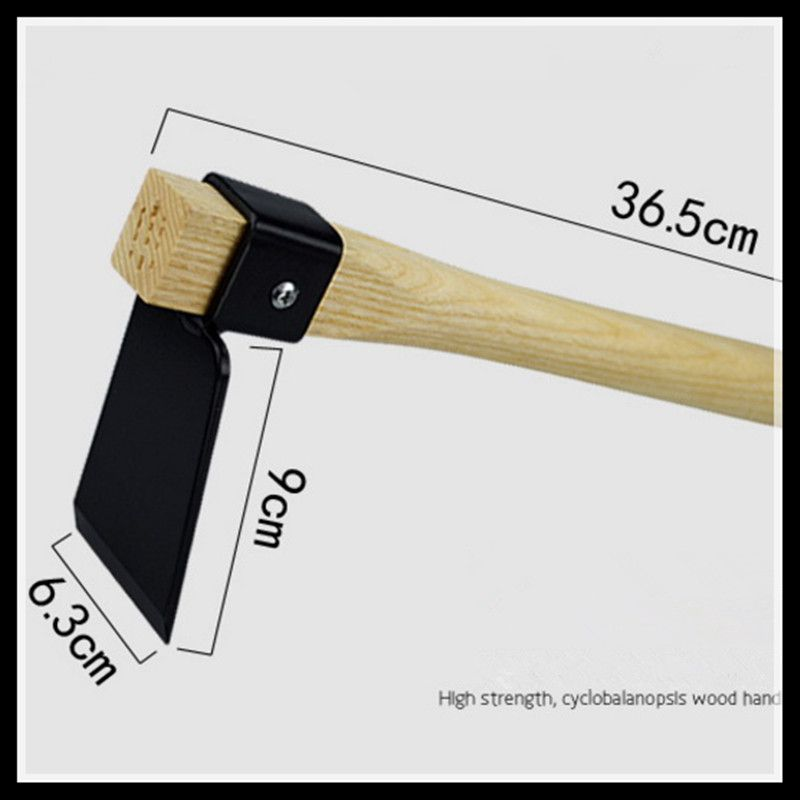 Garden wood handle small hoe head gardening supplies gardening tools home and gardening