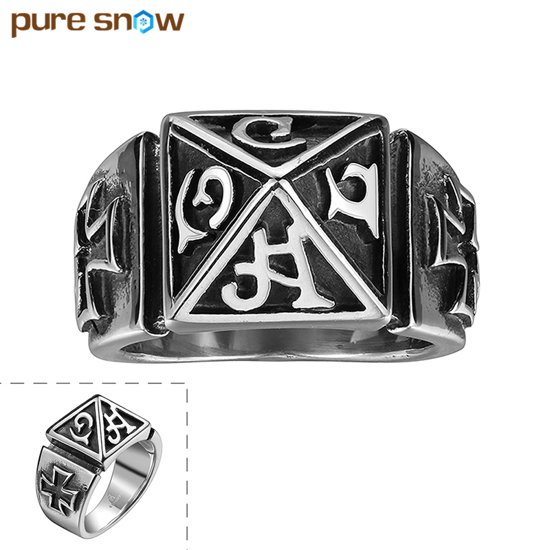 Pure Snow Simple Design Cross Ring Vintage Europe Style Fingers Ring Fashion Luxury Elegant Charm Male Jewelry