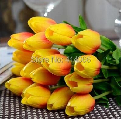 12 Stücke / Los, echte Note PU-Tulpe der künstlichen Blume - Partyartikel und Dekoration - Foto 2