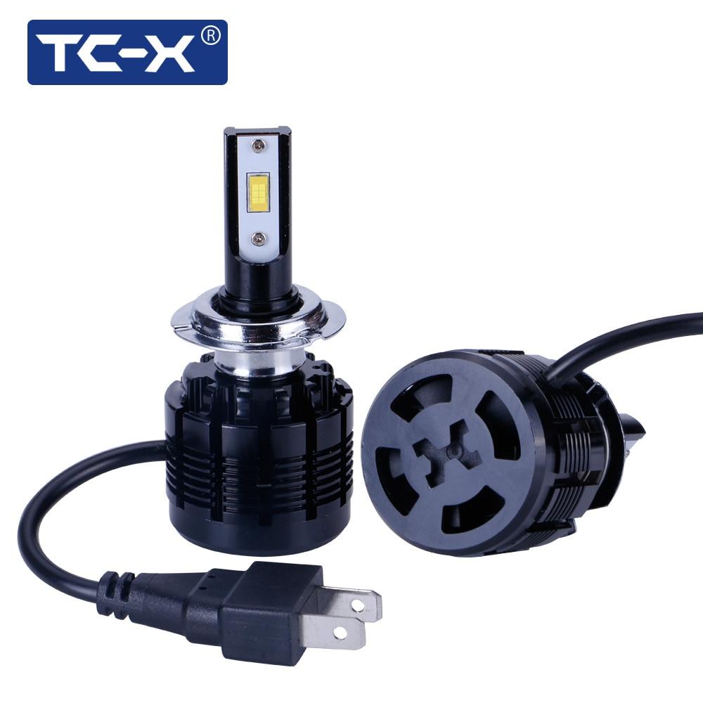 Faruri auto pentru 7200LM TC-X LED H1 H7 LED H11 / H8 / H9 H4 / 9003 9005 / HB3 9006 / HB4 880 / H27 6000K Far pentru mașină ptf Înlocuire lumină