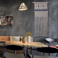 New Handmade Cord Knitting Tapestry Cotton Crochet Wedding Home Bohemian Decoration Macrame Wall Art