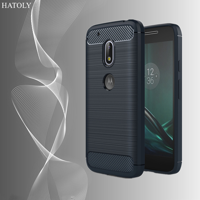 cheap for discount d48a4 1dbcf US $2.51 41% OFF|HATOLY For Capa Motorola Moto G4 Play Case 5.0
