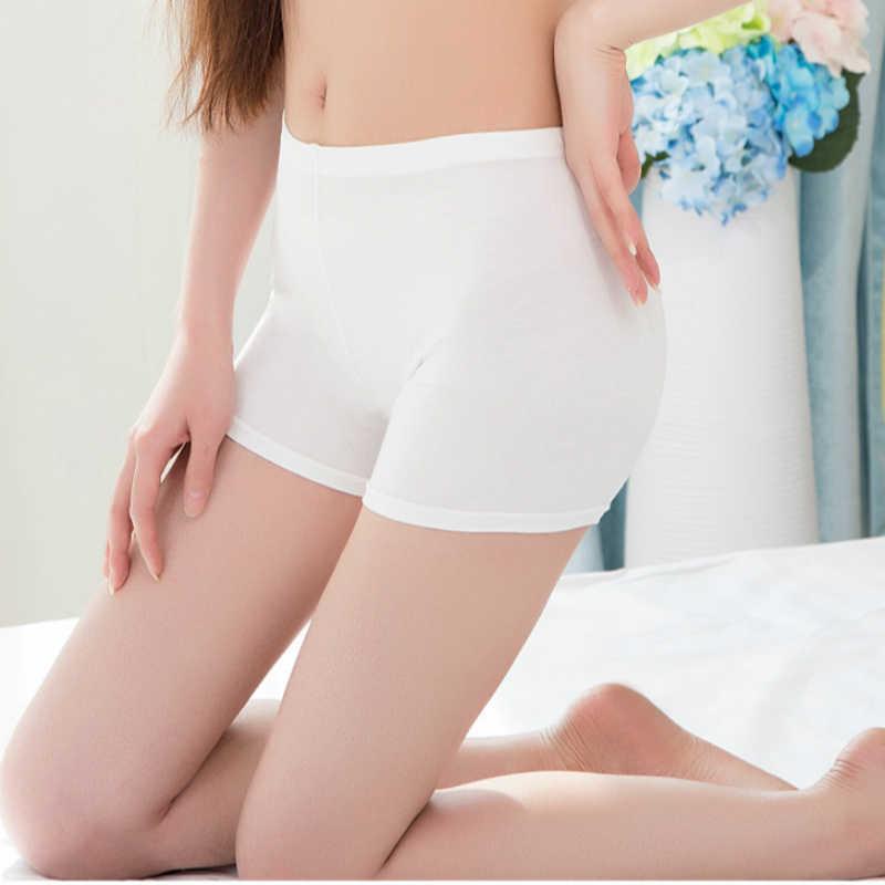 Ice Silk krótkie spodnie kobiety miękkie bawełniane bezszwowe bezpieczeństwa Mutande Donna lato pod spodenki spódnica modalne oddychające krótki rajstopy