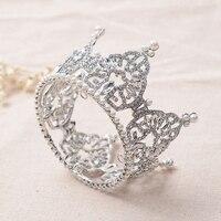 Dễ thương Mini Giả Ngọc Trai Vòng Tóc Vương Miện Nữ Hoàng Sinh Nhật Bé Bridal Công Chúa Tiaras Diadem Corona Vua Bezel Crowns Headband
