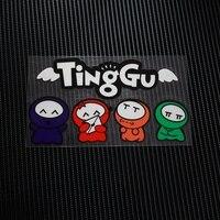 TD019 Free Shipping Cartoon TingGu Reflective Car Sticker Decals Motorcycle Racing Stickers Motorbike Helmet Windshield ATV