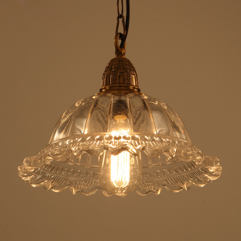 Loft simple American country bar dining room pendant light creative personality Glass iron pendant lamp