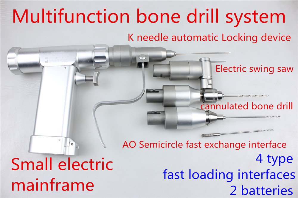 medical small animal orthopedic instrument multifunction cannulated bone drill Electric swing saw hollow K needle AO interface medical electric drill medical bone drill apparats high pressure hollow drill kirschner wire