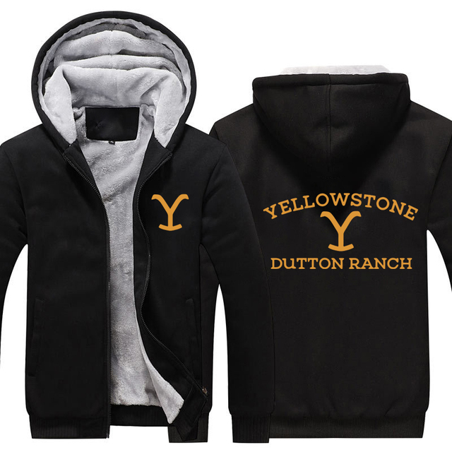 US $29 96 34% OFF|Kevin Costner Yellowstone Thicken Hoodie Yellowstone  Dutton RANCH Warm Hoodie Sweatershirt Wyoming Montana Cow Boys Hoodie-in
