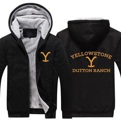 Kevin Costner Yellowstone Verdicken Hoodie Yellowstone Dutton RANCH Warme Hoodie Sweatershirt Wyoming Montana Kuh Jungen Hoodie