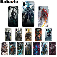 Babaite Warframe Transparent High Quality Silicone Soft TPU Phone Case for iPhone X XS MAX 6 6s 7 7plus 8 8Plus 5 5S SE XR(China)