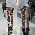 2016 Autumn Cotton Camouflage Punk Rock Leggings For Women Slim Fitness Workout Gothic Black Christmas Legins MF489652