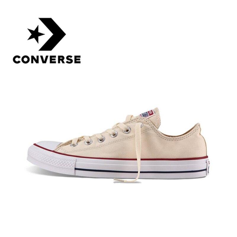 Converse/Мужская и Женская Классическая парусиновая обувь для скейтбординга с низким берцем, нескользящая, прочная, унисекс, нескользящая, легк...