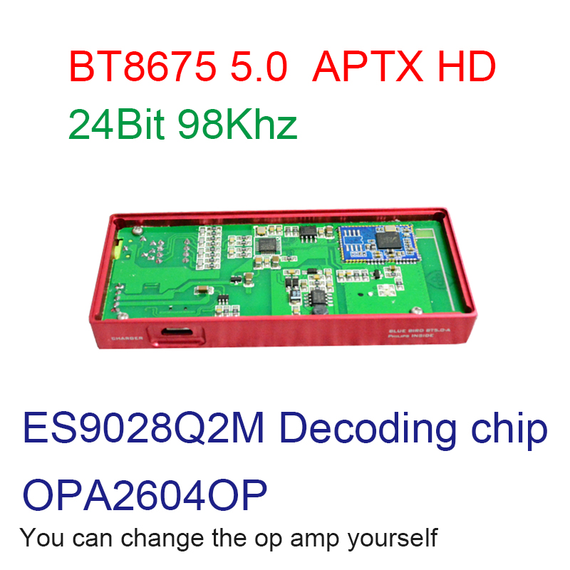 BT8675 bluetooth carte amplificateur casque OPA2604A pour 120-600 ohm sortie impédance Amplificador zéro bruit batterie intégrée