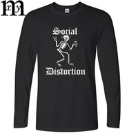 Metal Rock SOCIAL DISTORTION 2017 T Shirts New Autumn And Winter Men Long Sleeve O Neck