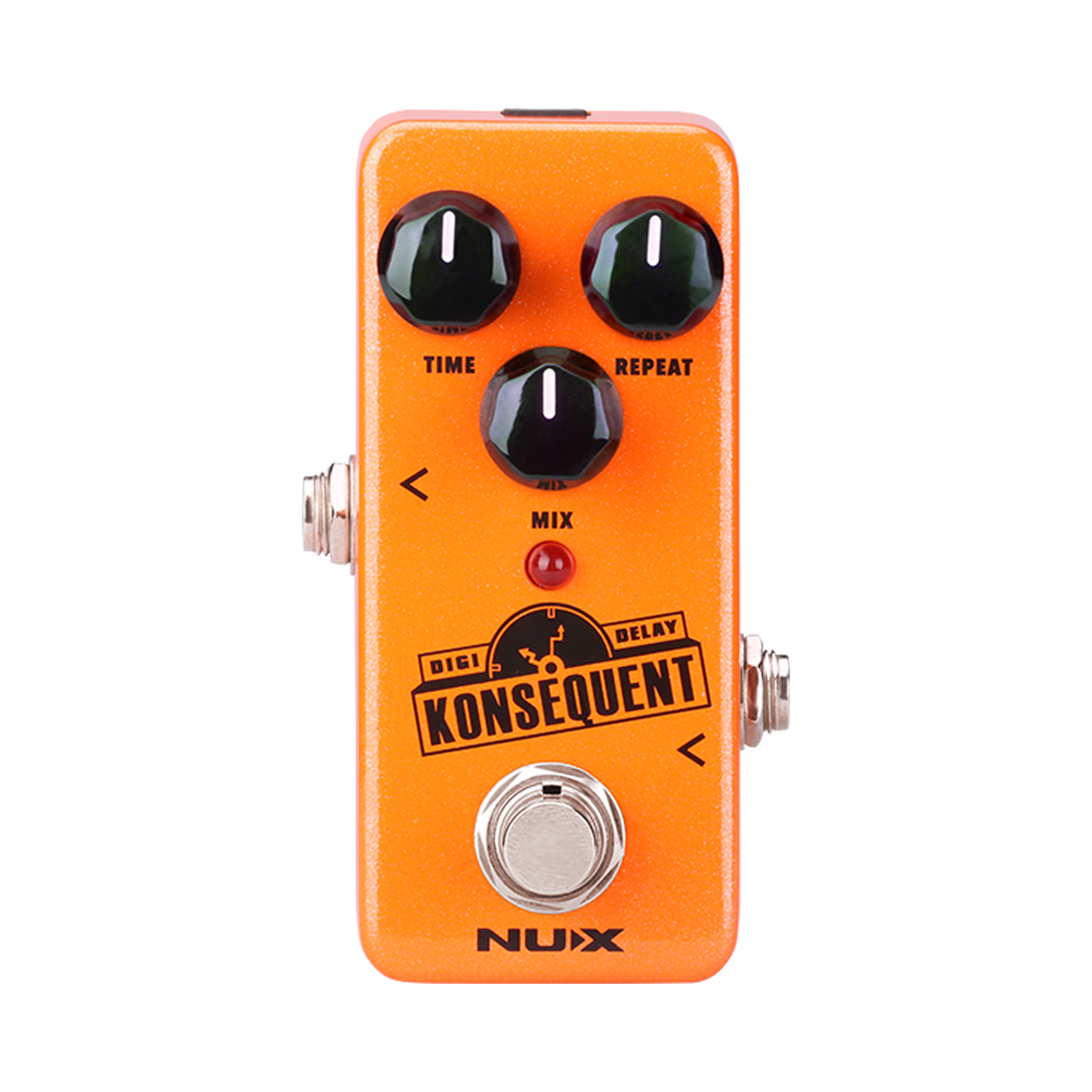 NUX Konsequent Digital Delay Guitar Effect Pedal Dotted 8 / Simple Delay Modes Mini Core Series Stompbox has Re-defined delay nux 1 8 lcd time force delay guitar effect pedal white black