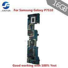 Jun diversão trabalho completo original desbloqueado para samsung galaxy tab 10.1 p7510 16gb wifi placa de circuito mãe lógica