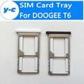 Doogee t6 adaptador sim slots suporte da bandeja do cartão sim 100% original novo adaptador para doogee t6 pro telefone inteligente