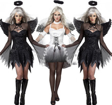 Sexy black angel dark Halloween clothing taste uniform zombie game Female the ghost bride demons