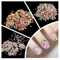 1000pcs Fimo Clay 3 Series Fruit Flowers Animals DIY 3D Nail Art Decorations Nails Art Decoration Sticker Design
