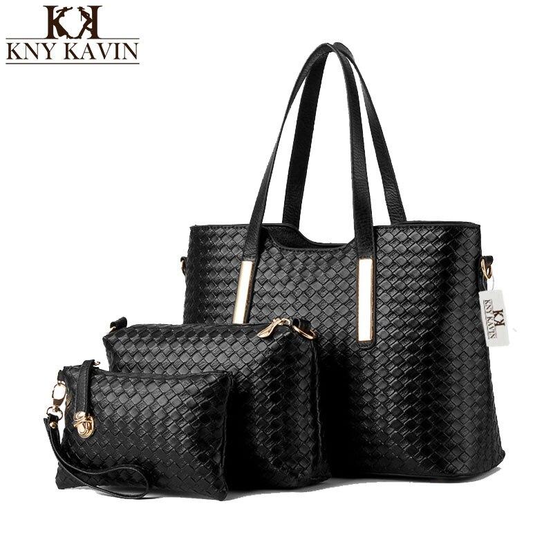 New Women Black Bucket Bag Ladies Handbags Pu Leather