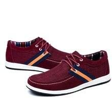 2016 New Autumn Men's Casual Shoes Summer Breathable Canvas Shoes Plus Size Men Shoes Fashion Low Lace -Up Flats Zapatos Hombre