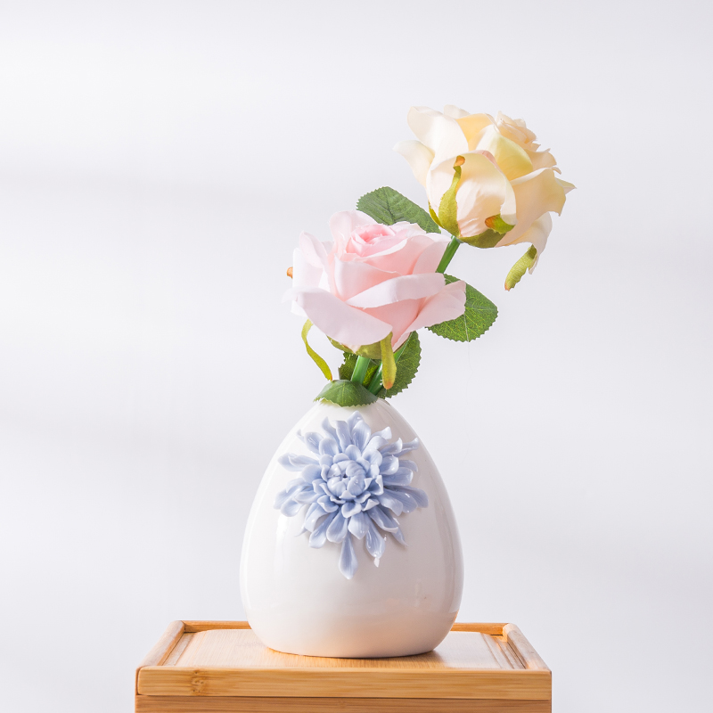 European Modern Fashion Ceramic Flower Vase Home Decoration Small
