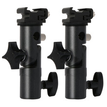 2Pack Camera Flash Speedlite Mount Swivel Light Stand Bracket with Umbrella Reflector Holder for canon nikon yongnuo godox