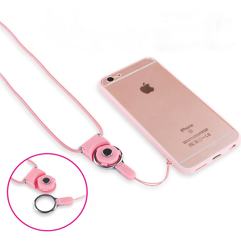 FFFAS  Mobile Phone Datachable  Flexible  Cell L Phone Hanging Strap Neck Straps Sling Necklace Rope For IPhone 8 7 6 6s Samsung