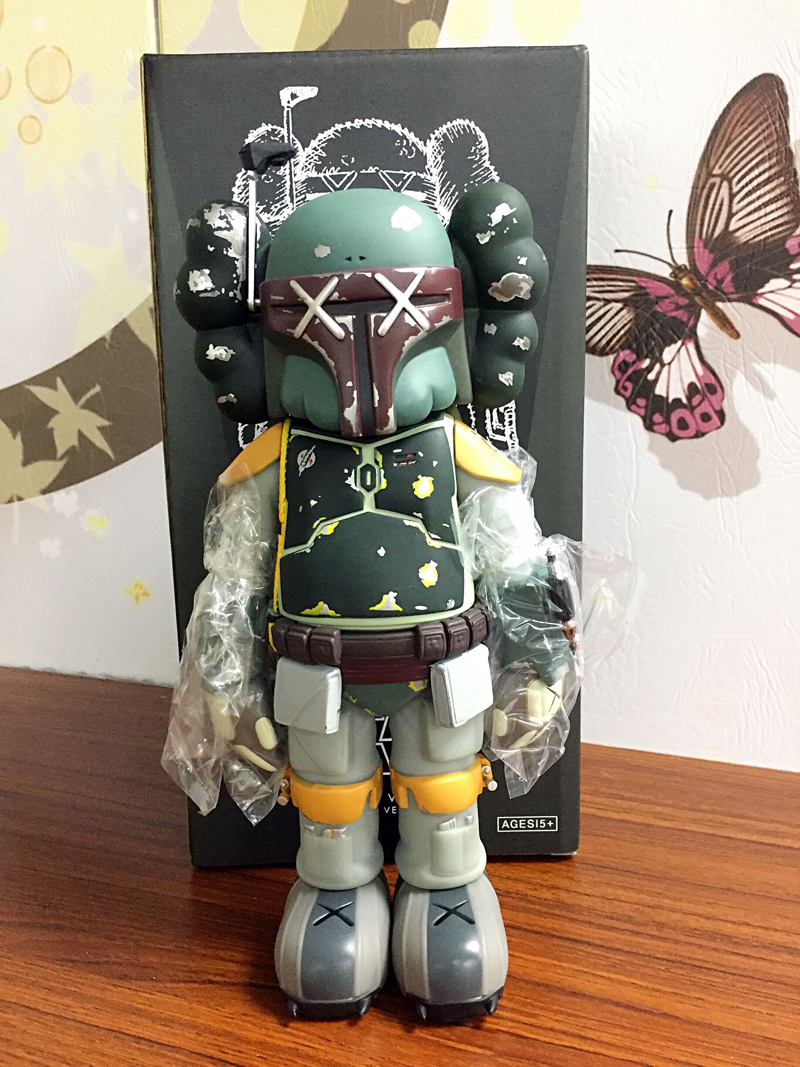 2017 New Arrival OriginalFake KAWS Boba Fett Companio by Kaws for Star Wars 30th Anniversary kaws companion original fake bf0010