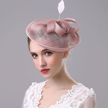 HT1773 alta calidad señora Fascinator elegante hilo ala malla vendimia  pinzas de pelo boda sombrero Fedora sombrero de plumas so. 6d086b9c963
