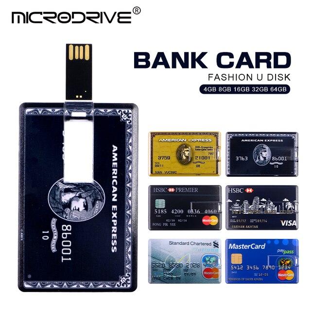 f8525efd86e New USB Flash Drive 4GB 8GB 16GB 32GB 64GB Bank Cool Credit VIP Card Pen  drive Memory Usb Stick 2.0 Pendrive Flash Drive