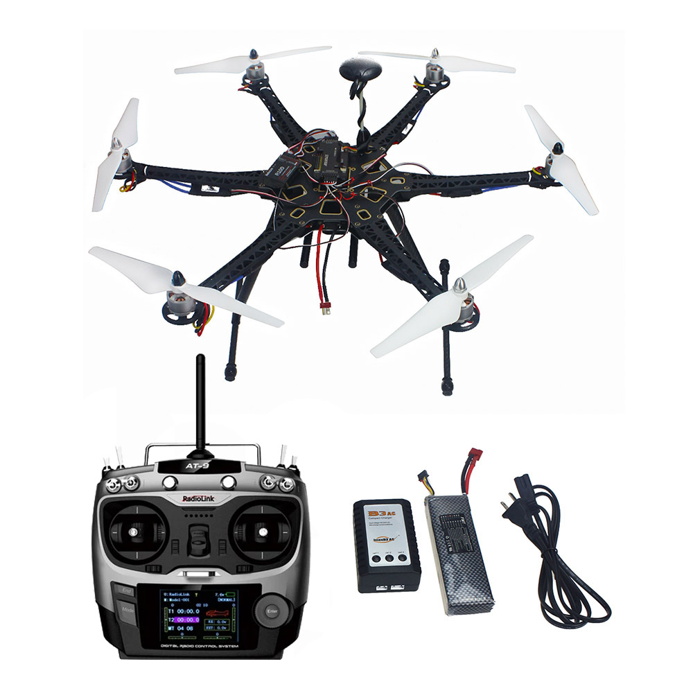 JMT Assembled HMF S550 F550 Upgrade RTF Kit with Landing Gear & APM 2.8 Flight Controller GPS Compass No Gimbal F08618-N original naza gps for naza m v2 flight controller with antenna stand holder free shipping
