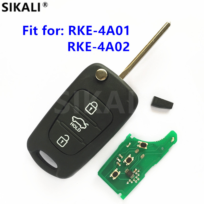 Car Remote Key DIY for RKE-4A01 or RKE-4A02 Vehicle Keyless Entry Fob 433MHz Transmitter ASSY CE 433-EU-TP for KIA