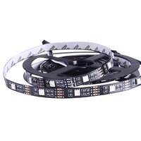 36W 30 LEDs SMD 5050 USB TV Bare Black Board RGB Rope Light Decorative Lighting LED Light Strip, Length: 5m, DC 5V