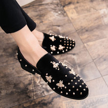 Big Size Men Shoes Rivets Men Loafers Comfortable Casual Shoes Men Luxury Fashion Wedding Party Shoes Men Flats Chaussure Homme fashion rhinestone crystal rivets party shoes men luxury brand design casual shoes mens loafers crystal italian men shoes flats