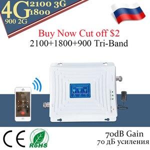 Image 2 - 4G אות מהדר 900 DCS LTE 1800 WCDMA 2100 Tri band אות בוסטרים נייד טלפון 2G 3G 4G טלפון סלולרי מהדר סלולארי