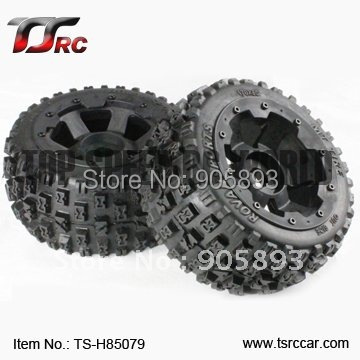 5B Rear Knobby Wheel Set(TS-H85079) x 2pcs for 1/5 Baja 5B, wholesale and retail 5b rear highway road wheel set with nylon super star wheel ts h95085 x 2pcs for 1 5 baja 5b wholesale and retail