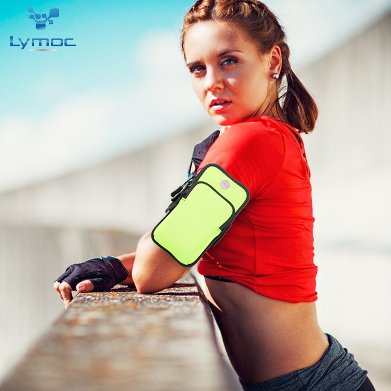 LYMOC Sport Arm Bag Outdoor Running Soft Sponge Portable Pouch With Card Pocket for 4-6''Mobile Phone Bags Waterproof Anti-Knock